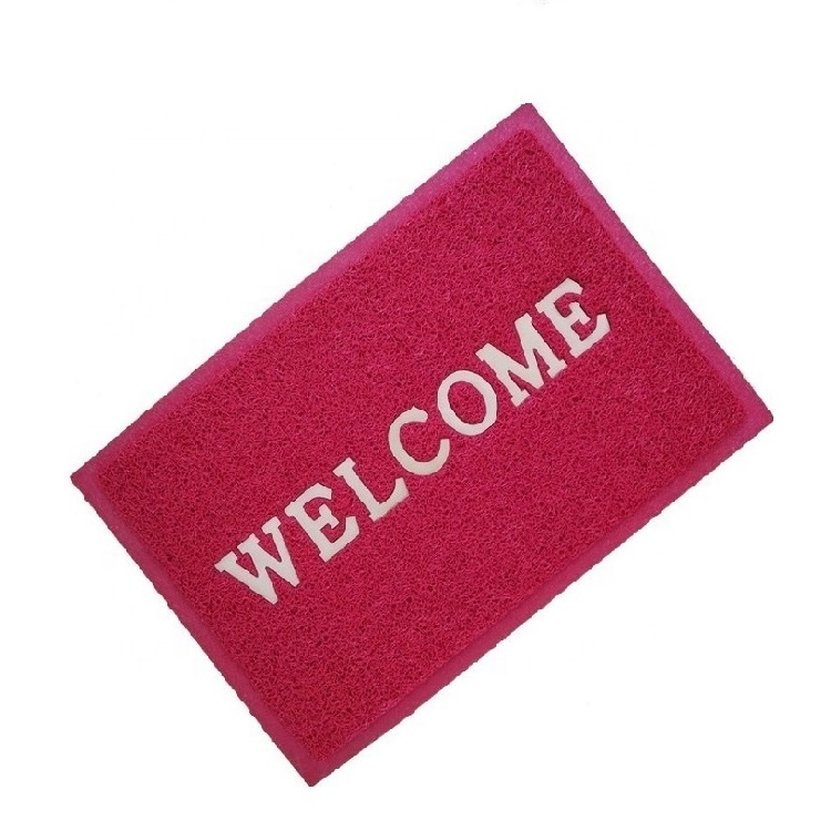 40x60cm Red Embossed Antislip Cushion Mat PVC Coil Doormat
