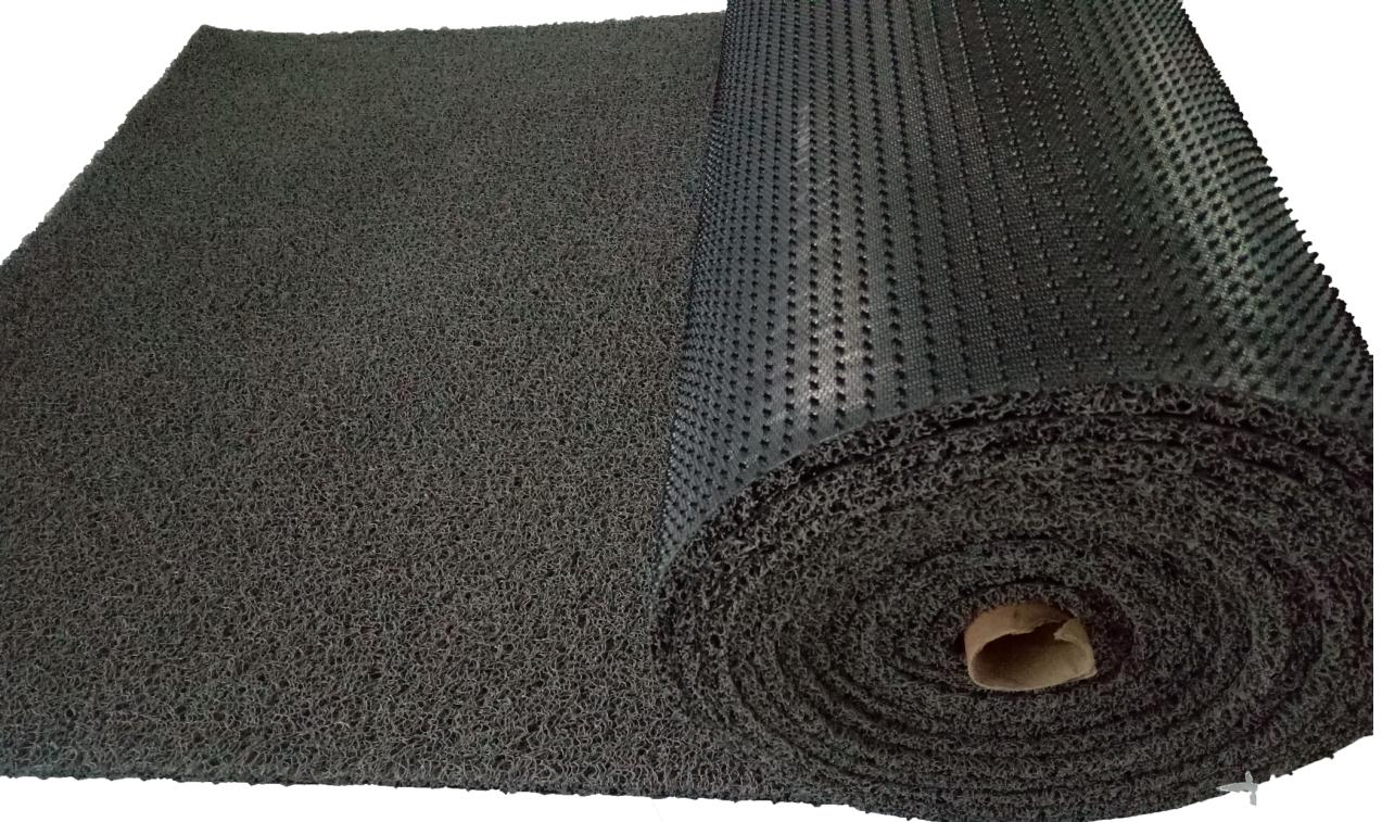 PVC coil roll anti slip nail backing car mat