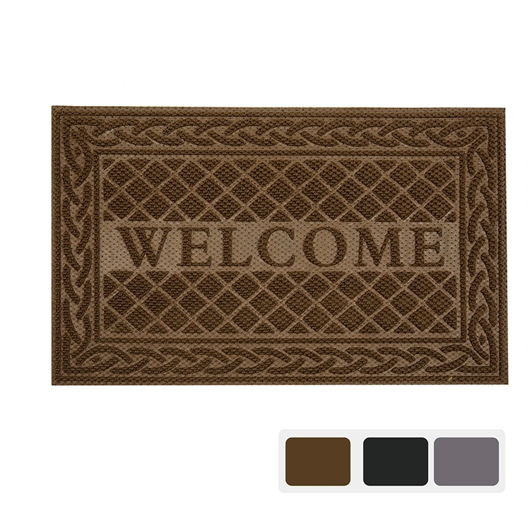 Size 45X75,60X90 Waterproof Low Profile Entrance Rug Welcome Logo Cartoon rubber custom Door Mat
