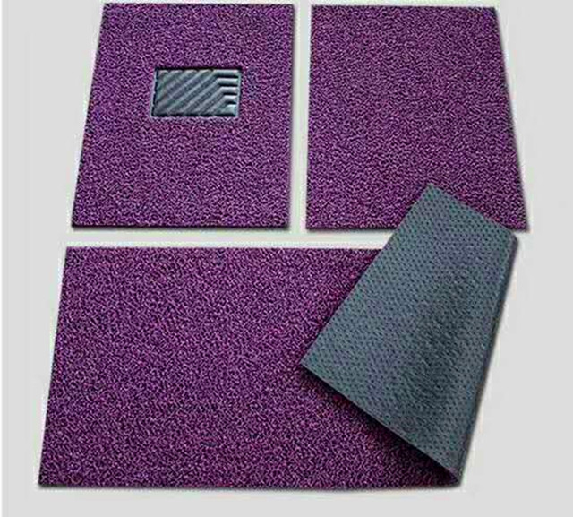 high quality pvc coil car mat with spike backing small MOQ