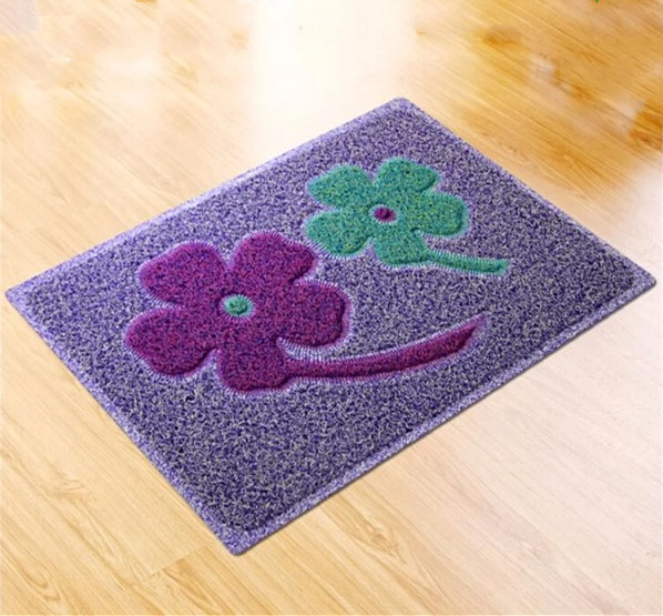 WELCOME pattern spaghetti pvc level loop door mat
