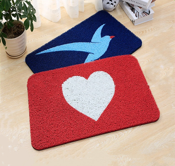 China Manufacturer Colorful Loop Durable Cushion Spaghetti Pvc Pad Door Mat, Anti Slip Mat Roll, Anti-slip pvc coil mat