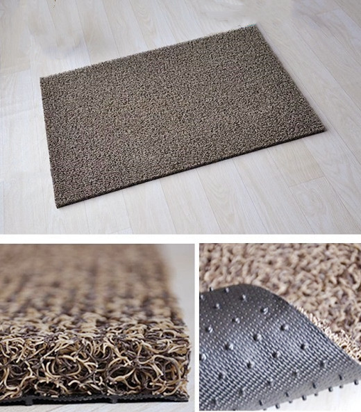 Soft Anti slip Waterproof PVC Roll Floor Coil Loop Pile Door Mat Automatic Spaghetti Carpet