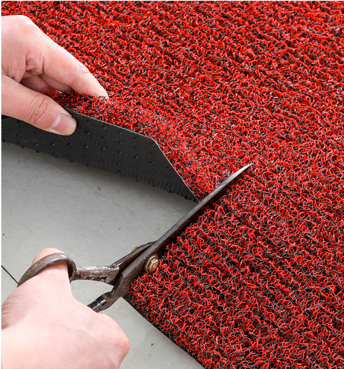 12mm Durable and Anti Slip PVC virgin coil mat Floor spaghetti heavy duty carpet roll